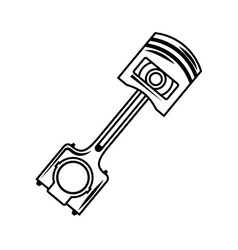 industry automotive piston part engine vector image
