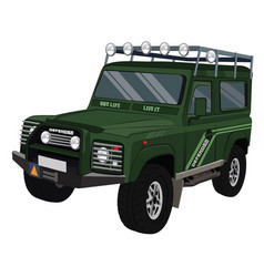 Landrover defender vector