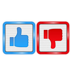 Like and Unlike Buttons vector image