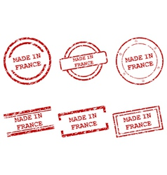 Made in France stamps vector image