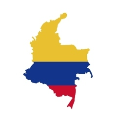 map with colors colombian flag vector image