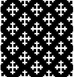 monochrome cross seamless pattern vector image