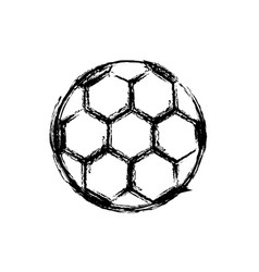 monochrome sketch of soccer ball vector image