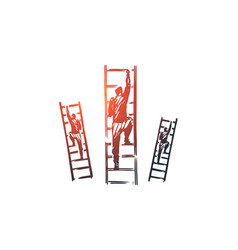 motivation stairs success career goal concept vector image