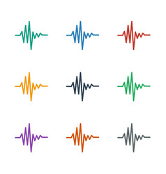 Music equalizer icon white background vector