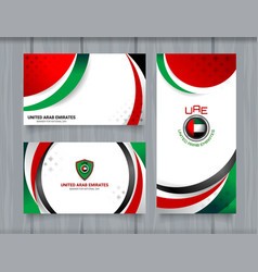 national flag of united arab emirates background vector image