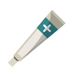ointment cream tube medicine vector image