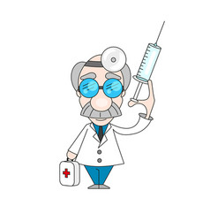 old professional doctors vector image