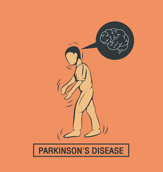 Parkinsons disease logo icon design template vector