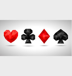 playing card suits icon symbol vector image