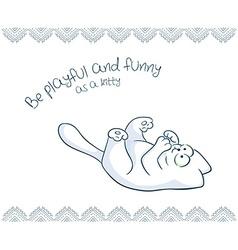 Printable of nice gift postcard with hand drawn vector