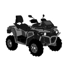Quad bike off road vehicle isolated on white vector