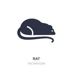 Rat icon on white background simple element from vector