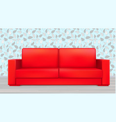 red modern luxury sofa for living room reception vector image