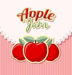 Retro apple jam vector image