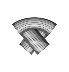 Ribbon icon black monochrome style vector