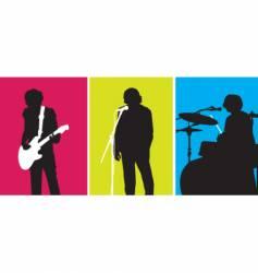 rock out trio vector image