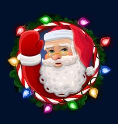 Santa icon vector