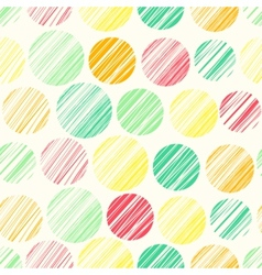Seamless pattern with abstract polka dot ornament vector image