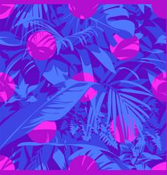 Seamless ultraviolet hawaiian tropical pattern vector