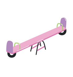 Seesaw or teeter-totter with handles isolated on vector