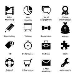 Seo Icons Vol 2 vector image