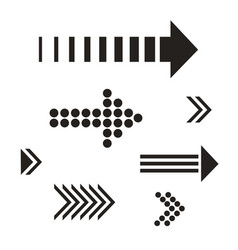 Set black arrows vector