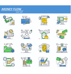 Set of online money payments and finance vector