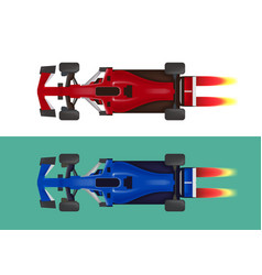 Set of racing cars formula 1 vector