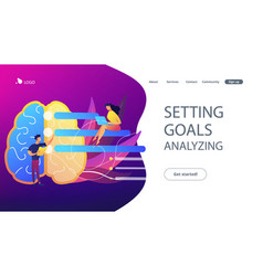 Setting goals and analysing landing page vector