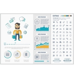 Shopping flat design Infographic Template vector