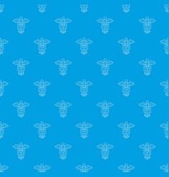 sign medicine pattern seamless blue vector image