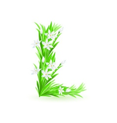 spring flowers alphabet l vector image