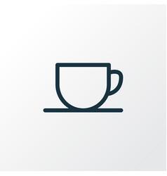 tea cup icon line symbol premium quality isolated vector image