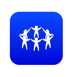team or friends icon digital blue vector image