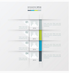 Timeline report design template green blue gray vector