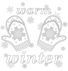 warm winter black and white poster vector image