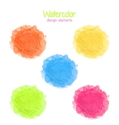 Watercolor rainbow spots set vector