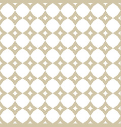 white and gold geometric ornament seamless vector image