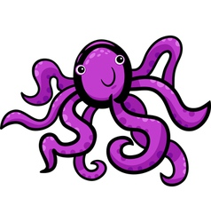 cartoon of cute octopus vector image