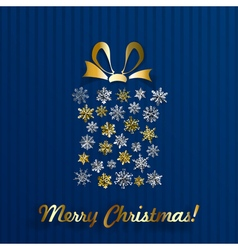 Gift box made of snowflakes vector image