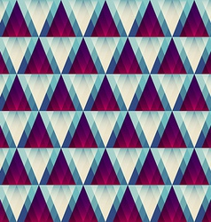 retro triangle seamless pattern vector image vector image