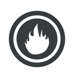 Round black fire sign vector image