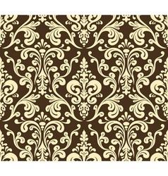 Seamless elegant damask pattern Golden colors vector image vector image
