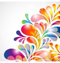 bright teardrops vector image vector image