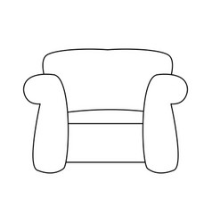 couch seat armchair comfort furniture image vector image vector image