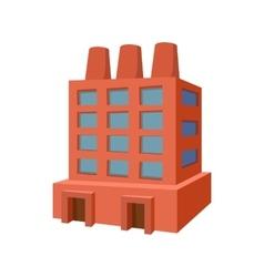 Factory building cartoon icon vector image