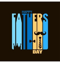 fathers day holiday design background vector image