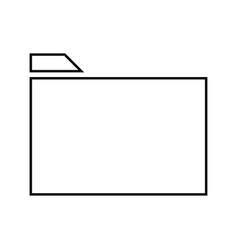 folder it is black icon vector image