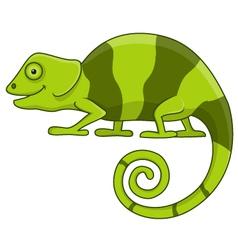Funny chameleon cartoon vector image vector image
